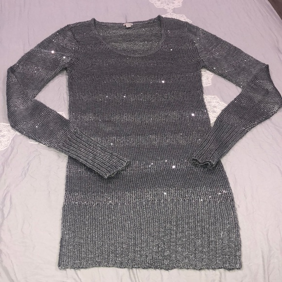 a606f5c6963 Guess Dresses   Skirts - Guess silver sweater or sweater dress!
